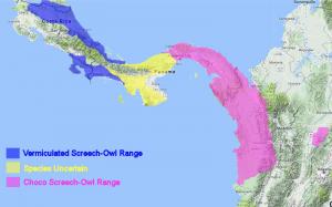 Choco Screech-Owl Range Map